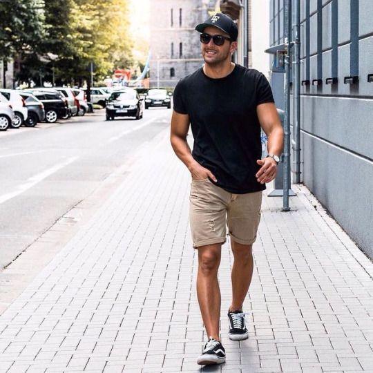 Áo thun nam ôm body phối cùng quần short