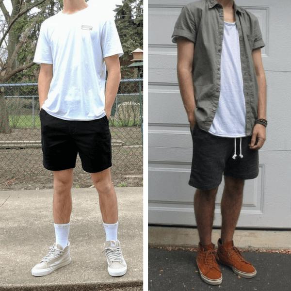 Phối đồ với quần short nam siêu chất