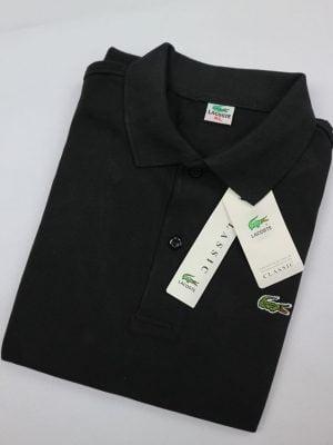 Áo lacoste đen