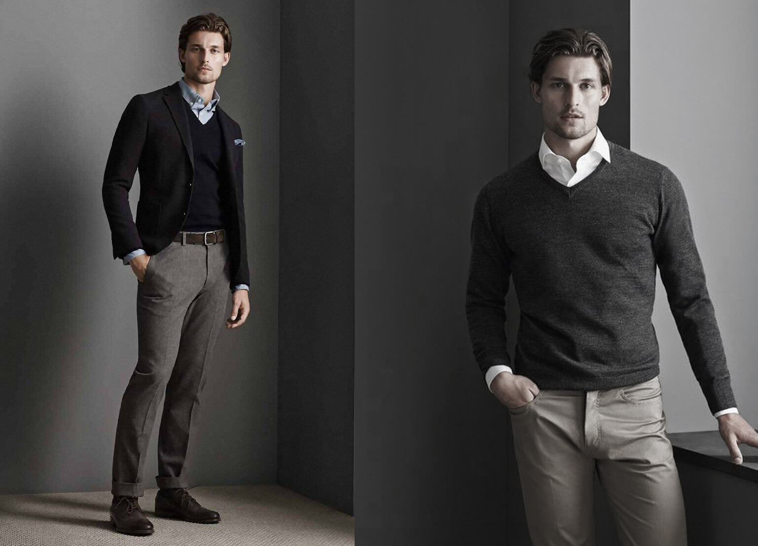 Áo Sweater, Sơ mi, Cà vạt và Áo Sweater, Sơ mi, Cà vạt và quần tâyquần tây