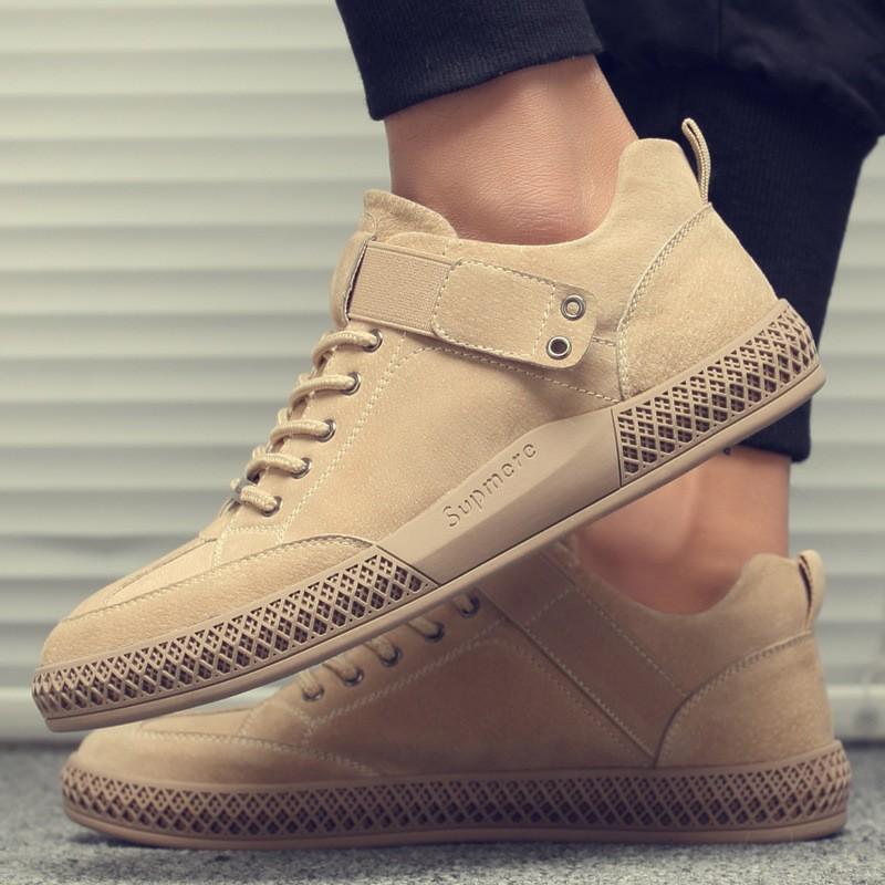 giày thể thao màu nâu nam