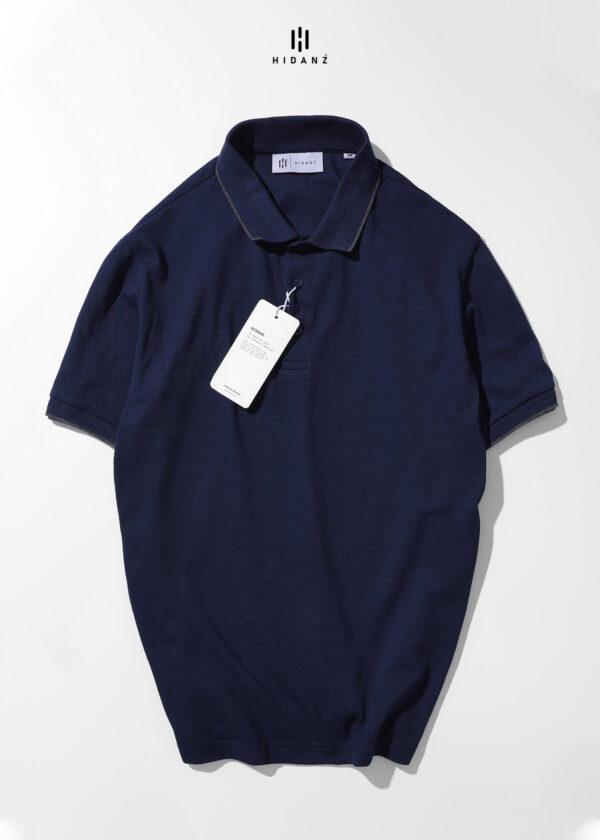 Áo Polo Premium Cotton Honeycomb – DARK BLUE