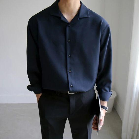 Set đồ quần tây basic và áo sơ mi Hàn Quốc tay dài