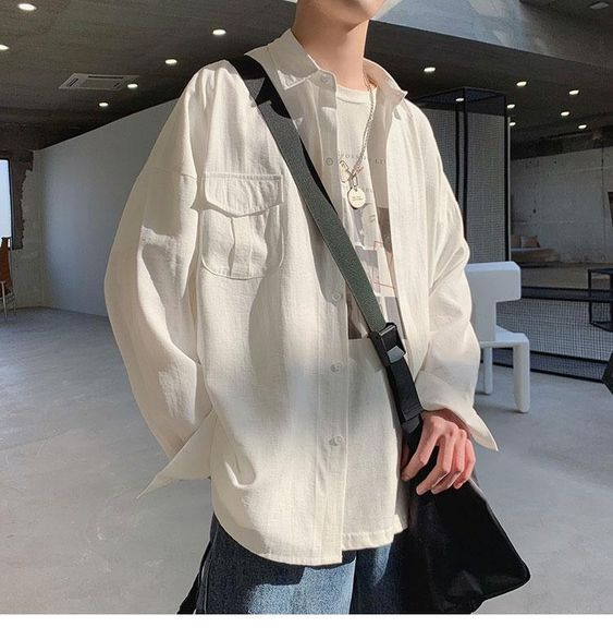 Phong cách Layer - áo sơ mi khoác ngoài